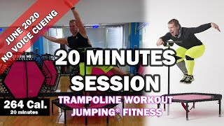 20 minutes trampoline session June 2020 - Jumping® Fitness [NO VOICE CUEING - CLEAR MUSIC]