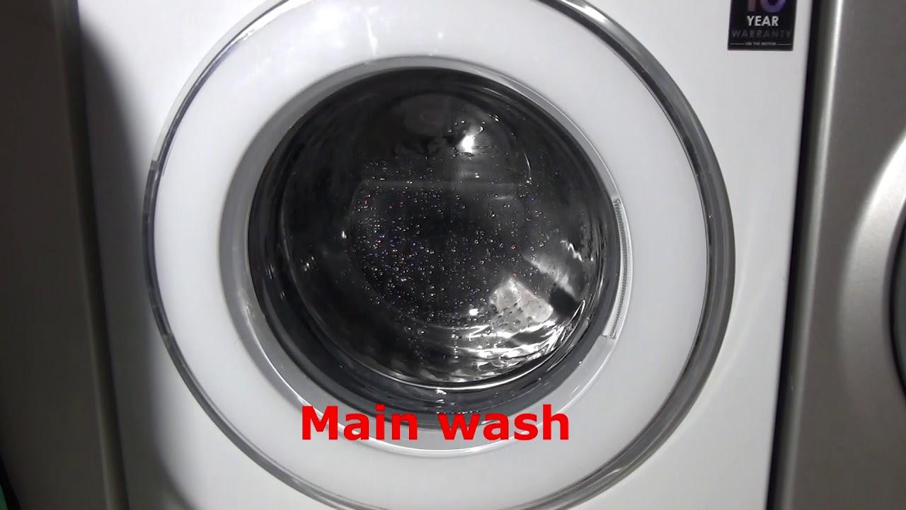 eco drum 39 tub 39 clean cycle samsung ecobubble wf80f5u4w washing machine youtube. Black Bedroom Furniture Sets. Home Design Ideas