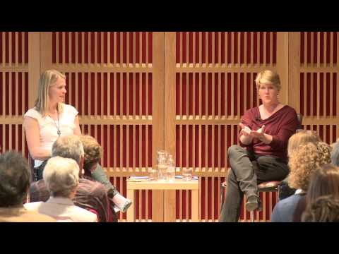 Clare Balding and Anna Watkins in the 2012 Newnham Conversation