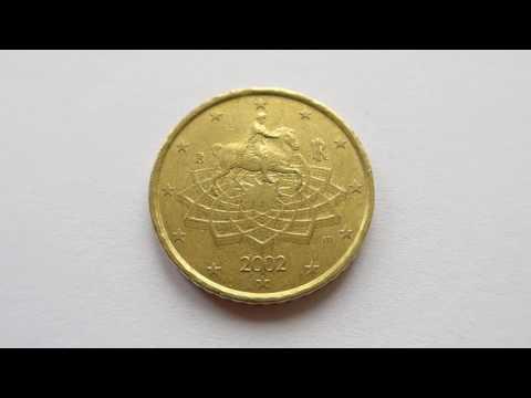 50 Euro Cent Coin :: Italy 2002