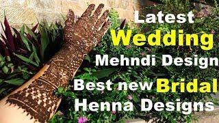 Bridal Mehndi Designs | Arabic Bridal henna | DIY wedding Henna 2017 | Best Bridal designs | Colorme