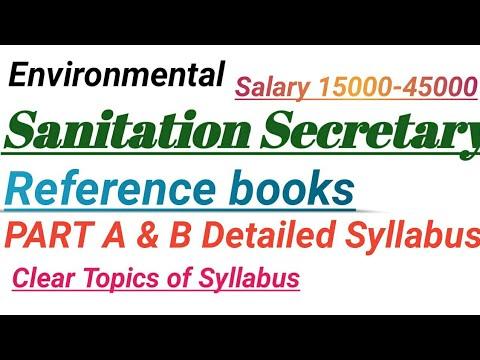 Sanitation Secretary jobs/Environmental secretary Reference books & Detailed syllabus information