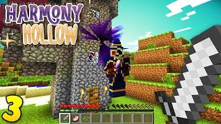 FIGHTING A NECROMANCER! Minecraft Harmony Hollow EP3 - Modded SMP S4