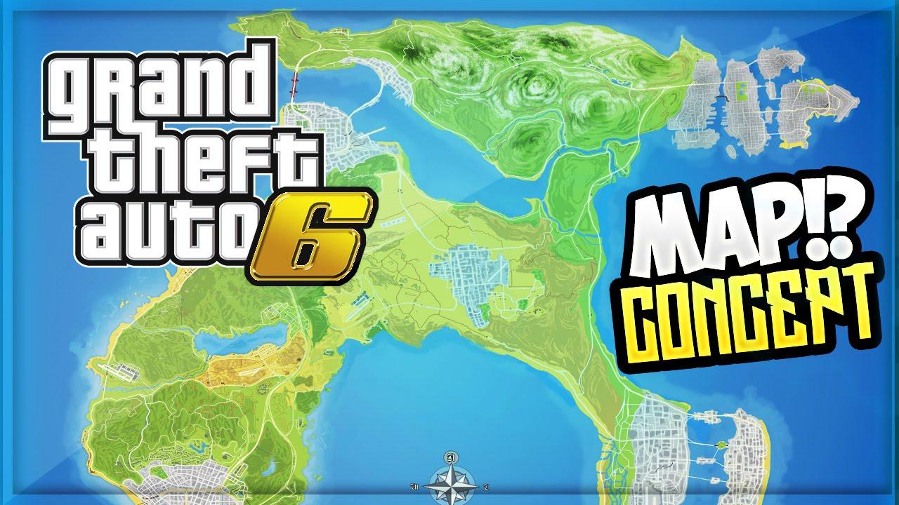 GTA 6 - Map! Vice City, Liberty City, Los Santos & More! (GTA 6 ...