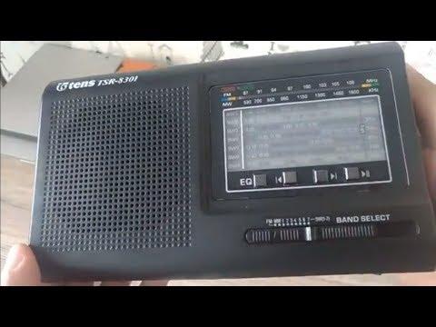 Unboxing - Tens Radio 10 Band AC / DC Micro SD / USB MP3 - TSR-8301 - Hitam