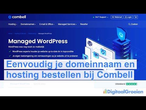 Zo bestel je Managed WordPress hosting (bij Combell)