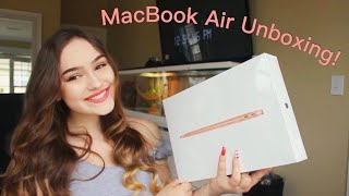 New MacBook Air 2019 13 Inch Rose Gold Unboxing Video | Startup, Stickers, & More |