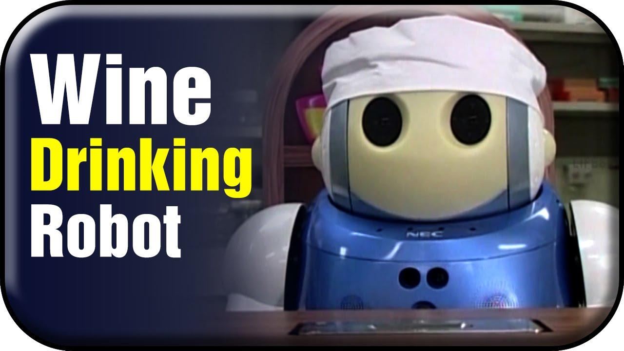 wine drinking robot checks