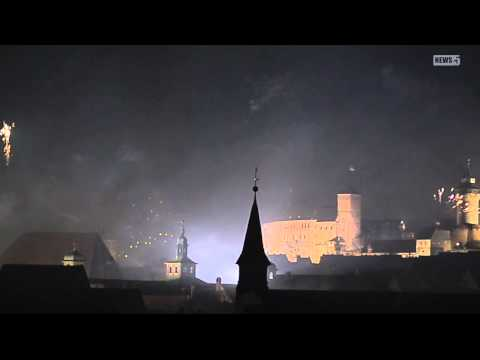 01.01.2013 (N) Silvesterfeuerwerk über Nürnberg