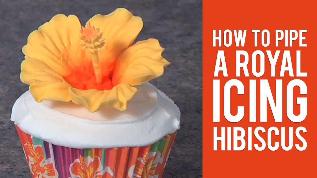 Learn How To Pipe A Royal Icing Hibiscus Youtube