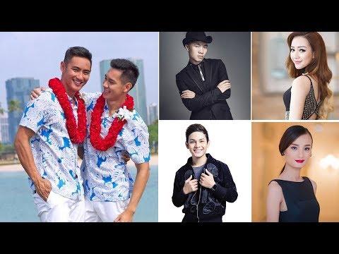 Đây là phản ứng của sao Việt khi Hồ Vĩnh Khoa đám cưới đồng giới với bạn trai siêu mẫu tại Hawaii