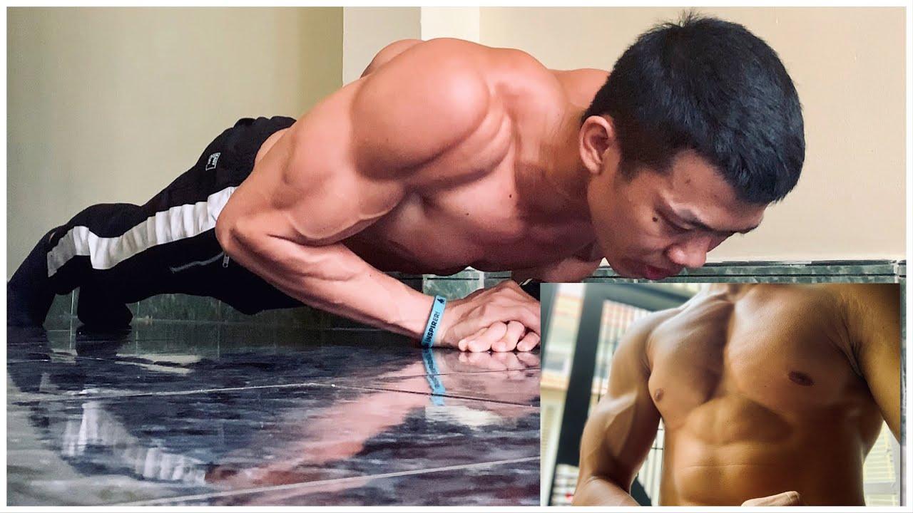Phần 2: Hướng dẫn GIẬT TUNG NGỰC! (Dù bạn chưa có ngực) – Bài tập cảm nhận cơ ngực khi hít đất.