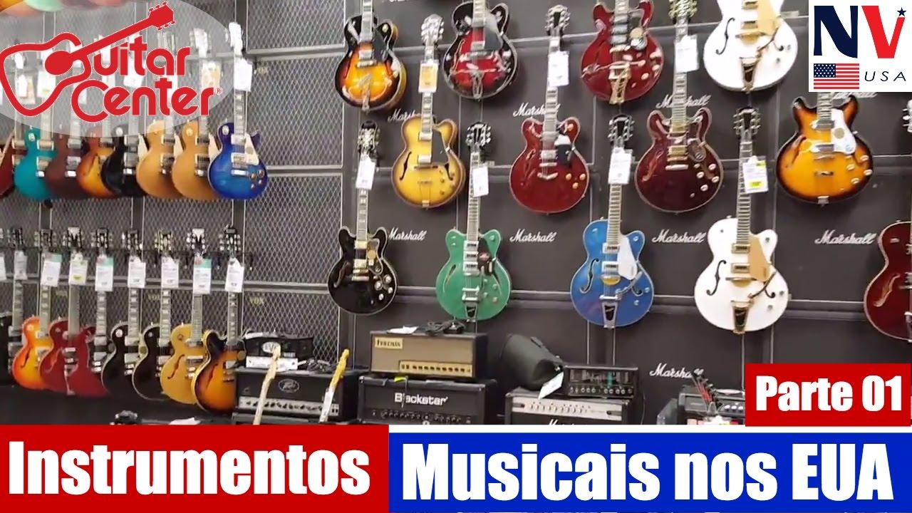 loja de instrumentos musicais nos estados unidos parte 01 youtube