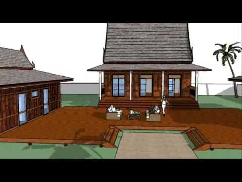 Thaithree thai house design ideas thaithree youtube for Small house design thailand