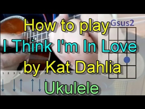 How to play I Think I'm In Love by Kat Dahlia (Ukulele Guitar Chords Cover)