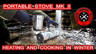 Heating and cooking for any winter shelter / HIDDEN OVERNIGHT 3