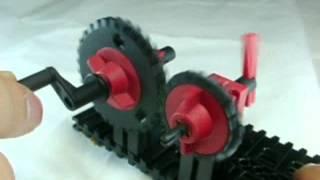 機構学教示用モデル1 歯車、ラック&ピニオン 株式会社のもと