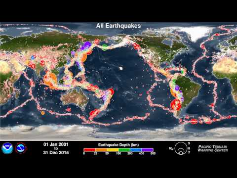 Earthquakes of the First 15 Years of the 21st Century - PTWC 2DIC