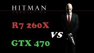 hitman absolution   r7 260x vs gtx 470   split screen comparison