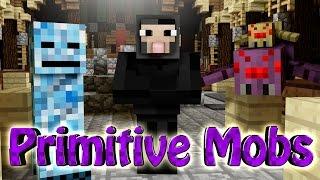 Minecraft | PRIMITIVE MOBS MOD Showcase! (New Villagers, Pets, Mini Bosses)