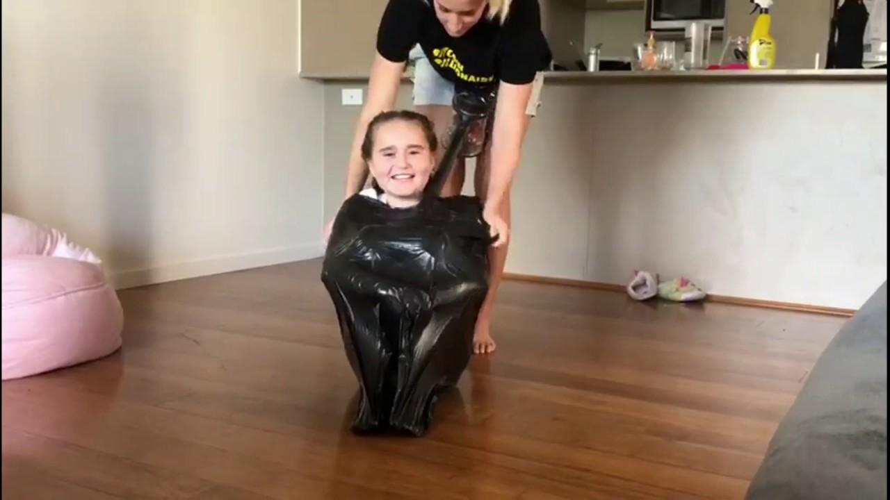 Vacuum bag girl