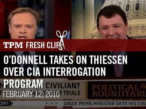 O'Donnell Takes On Thiessen Over CIA Interrogation Program