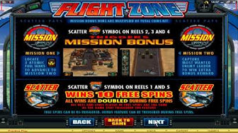 The Flight Zone Video Slot Machine @ 7Sultans Casino