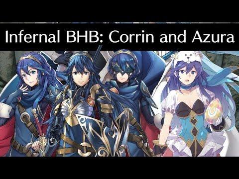 Lucina Emblem vs Corrin and Azura Infernal Bound Hero Battle - Fire Emblem Heroes