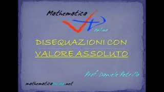 DISEQUAZIONE CON DOPPIO VALORE ASSOLUTO