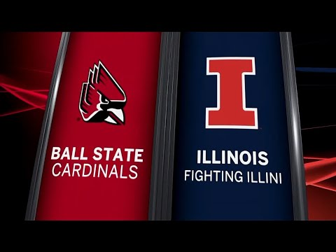 Ball State at Illinois - Football Highlights