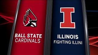 Ball State at Illinois - Football Highlights