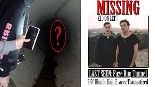 TYLER IS MISSING... for real... (my brother went missing in faze rug tunnel!) *not clickbait*