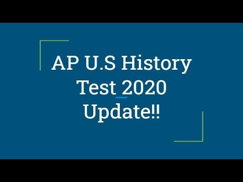AP US History 2020 Test Update!!
