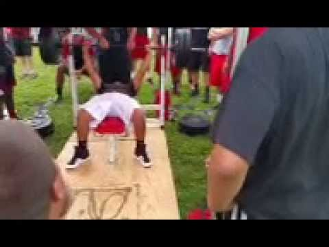 Kanon Coleman 13 Year Old Linebacker for Port Charlotte High School benches 225.