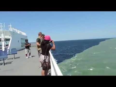 Rare Footage Of Atlantic Ocean And Pacific Ocean Meet