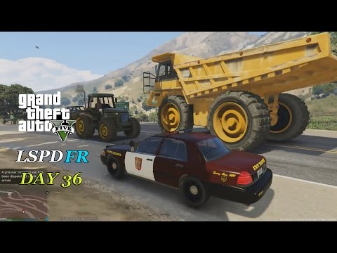 LSPDFR 0.2b - Day 36 - Minnesota State Trooper - Dump Truck Chase