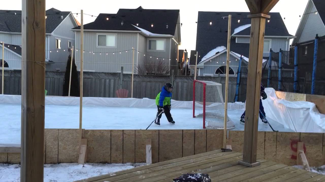 backyard rink 2016 brooklin ontario youtube