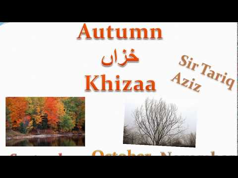 Let's Learn About the Four Seasons In Urdu With English Translation By Tariq Aziz