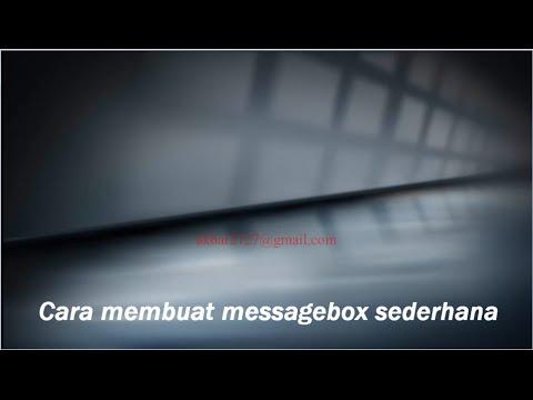 Cara Membuat Message Box Di Visual Basic 2010