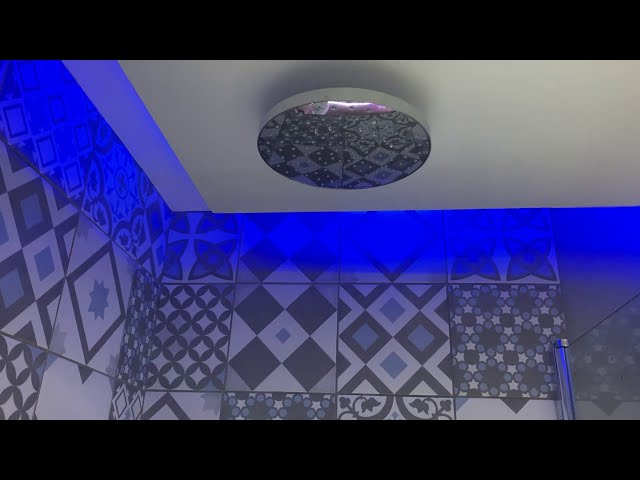 Modern Bathroom with LED lights