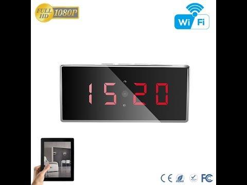 Aishine HD 1080P Table Clock Wireless Wifi Nanny Camera (AI-IP009 Day Video )