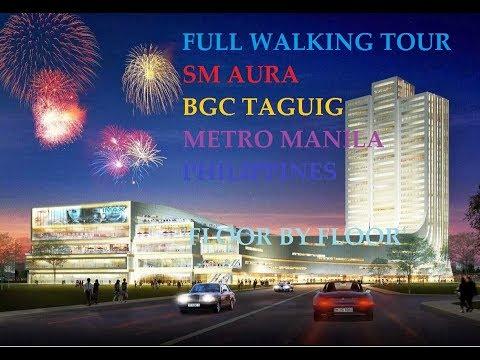 Metro Manila Philippines   BGC Taguig SM Aura Full Tour LG to Roofdeck DJI OSMO
