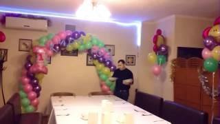 Арка на годик асянди для девочки в кафе Киш Миш(Арка на годик асянди для девочки в кафе Киш Миш #арка из шаров с единичкой #арка из шаров #асянди #букеты из..., 2016-12-26T13:17:29.000Z)