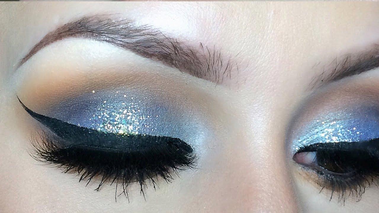 Blue Glitter Eyeshadow L Tutorial Youtube