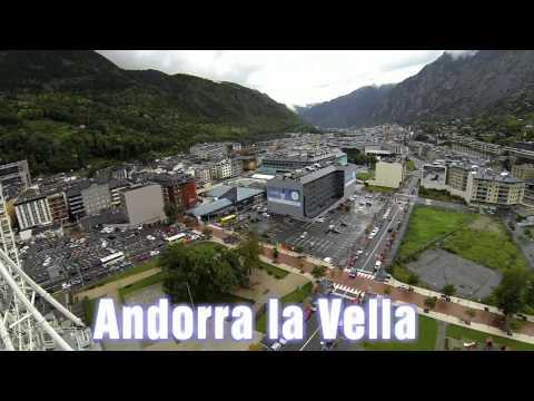 ANDORRA LA VELLA. LAGO ENGOLASTERS. CALDEA. VISTA DRONE PHANTOM 2.NORIA EN ANDORRA. GOPRO 3 1080 HD