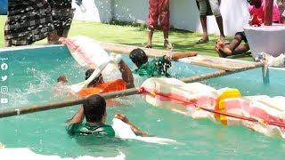 الميدان ياحميدان مسابقة العبور من المسبح فاذا لم تنجح فالضرب سيأتي عليك من كل مكان | رحلة حظ 2