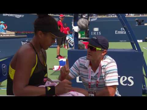 Rogers Cup: Naomi Osaka and David Taylor On-Court Coaching Timeout