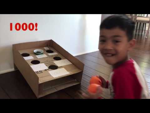 Ball Toss Game (Out of Cardboard!) - The Keoni Show Episode 3