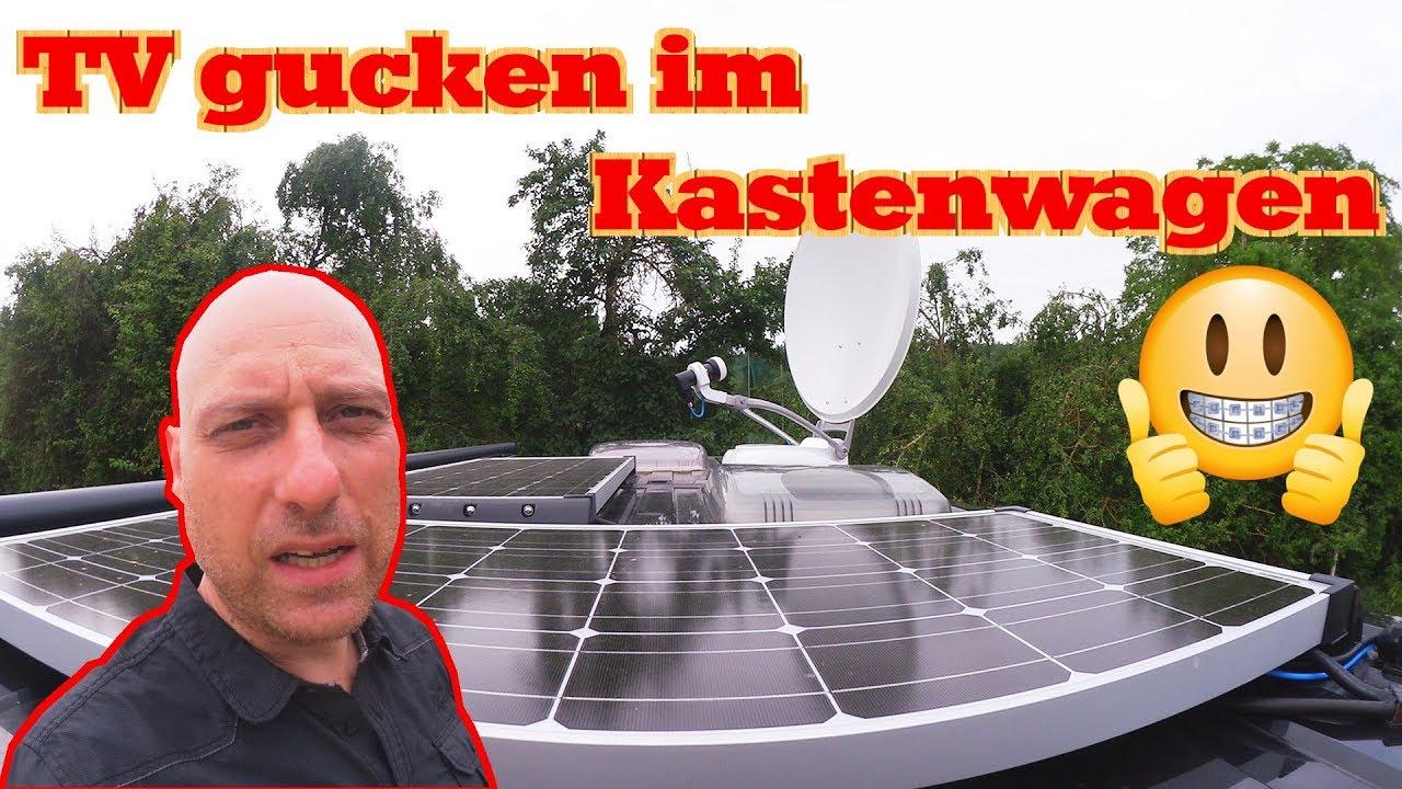 sat anlage wohnmobil kastenwagen vdb design vollautomatische satelliten anlage youtube. Black Bedroom Furniture Sets. Home Design Ideas