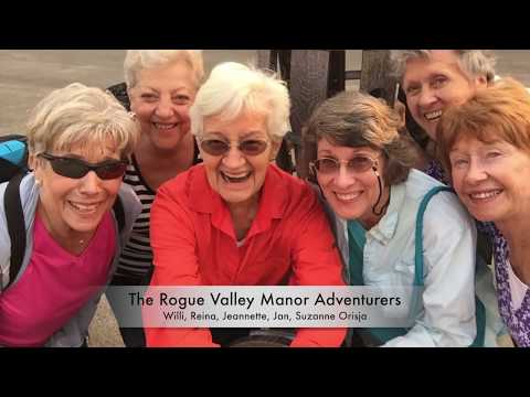 Rogue Valley Manor Residents Zip Dip Sip